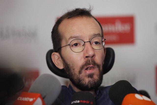 Pablo Echenique en los cursos de verano de El Escorial