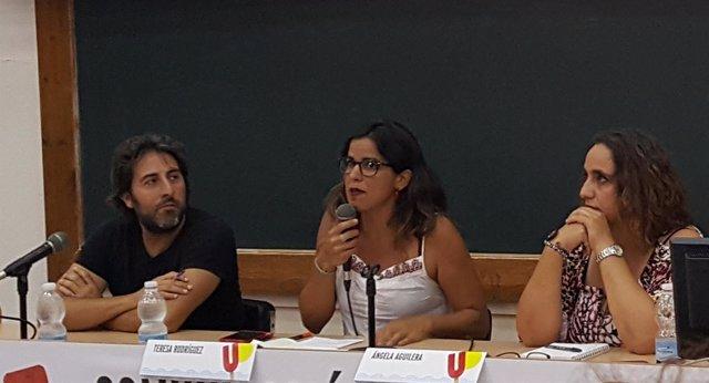 Teresa Rodríguez inaugura la primera ponencia de la Universidad de Podemos