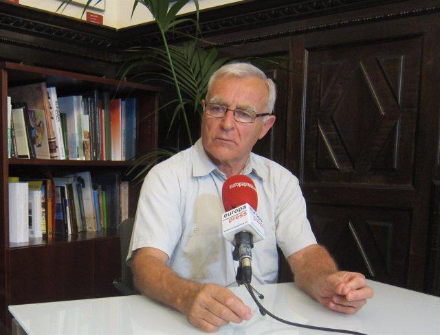 Joan Ribó durante la entrevista a Europa Press