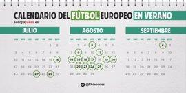 Calendario futbolístico oficial de los equipos españoles del verano