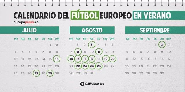 Calendario oficial de los equipos españoles