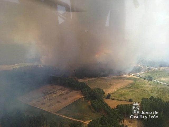 Incendio de Navalilla, en Segovia
