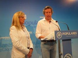 """Floriano (PP) cree que el modelo económico """"antiguo"""" de Extremadura impide que la región converja con el resto de España"""