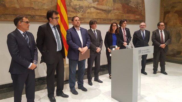 Pte.C.Puigdemont, vicpte.O.Junqueras, ptes de diputaciones