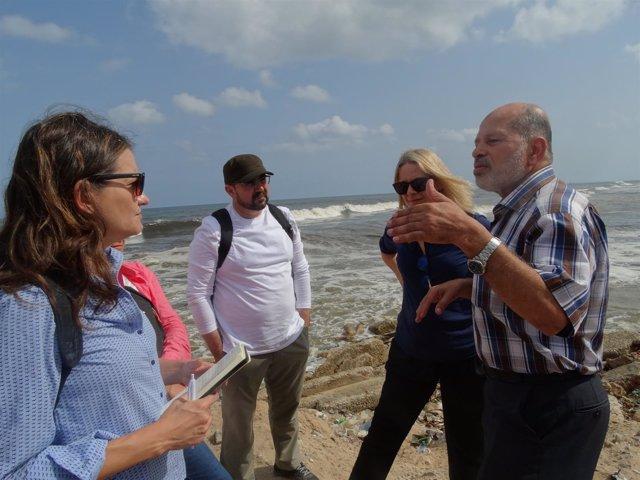 Mónica Oltra visita la Franja de Gaza