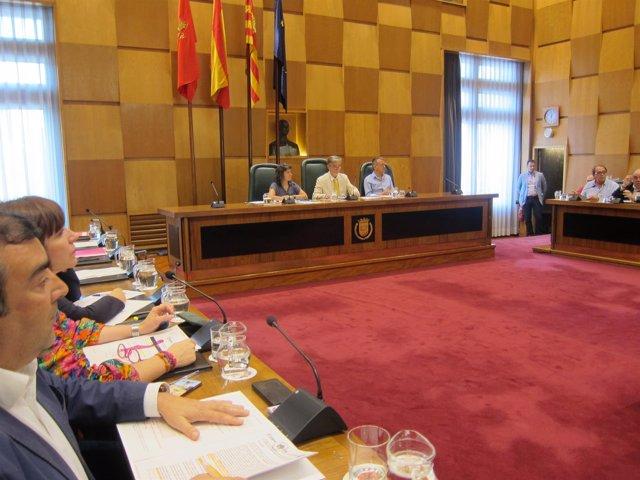 Pleno extraordinario de Zaragoza sobre la comisión de investigación de Ecociudad