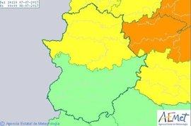 El 112 mantiene para este viernes la alerta amarilla por fuertes lluvias, vientos y tormentas en Cáceres