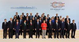 """Merkel dice a los líderes del G20 que el acuerdo es posible con voluntad de compromiso pero sin """"doblegarse"""""""