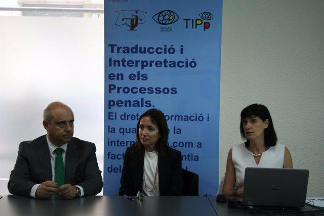 Javier Hernández, Carmen Bestué y Mariana Orozco en la presentación del TIPp