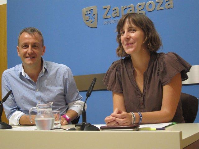 Fernando Rivarés y Teresa Artigas, miembros del Gobierno de Zaragoza