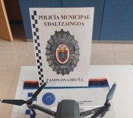 Sancionado por sobrevolar un dron en el recorrido del encierro antes de su inicio