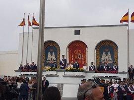 El Rey preside la entrega de despachos en la Academia General del Aire de San Javier