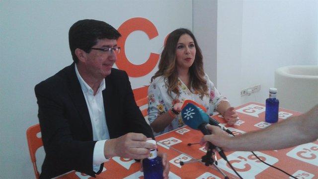 Juan Marín durante la rueda de prensa