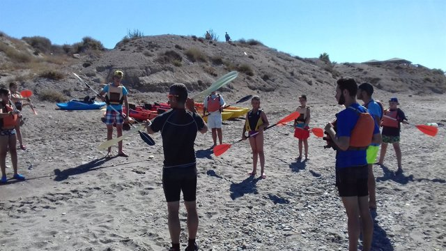 El kayak ha sido una de las actividades realizadas durante la jornada.