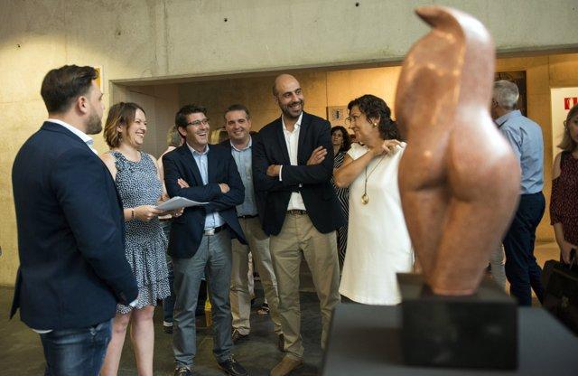 Inauguración de la exposición 'Joan Martí. Estructuras del Tiempo'