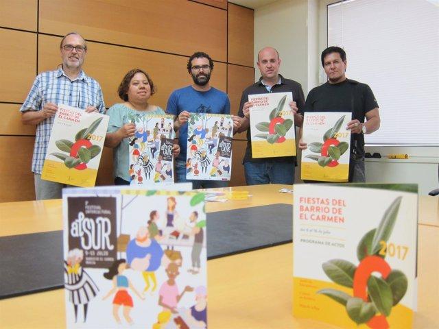 Presentación de las Fiestas del Carmen y del II Festival Intercultural alSur