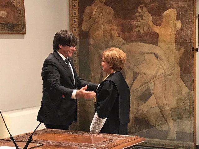 Pte.C.Puigdemomt preside el acto de posesión de M.Gil como miembro del CGE