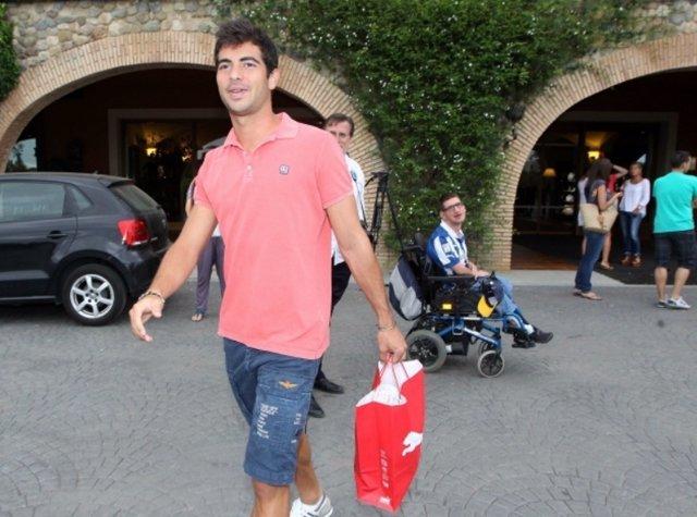 El Jugador Del RCD Espanyol Jordi Amat