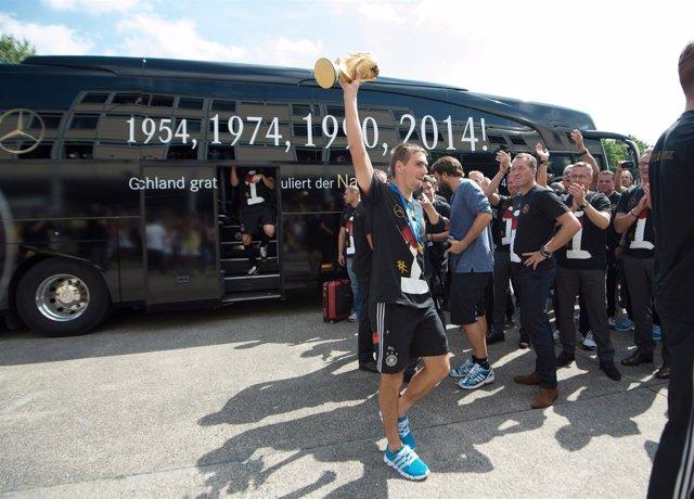 Philipp Lahm Celebra La Copa Del Mundo