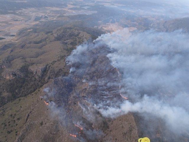 Imagen Del Incendio De La Sierra De Sopalmo