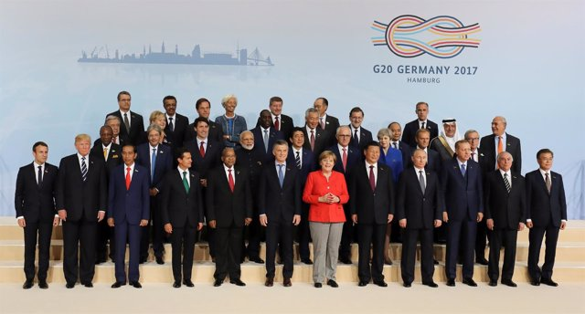 Foto de grupo cumbre G20 2017 Hamburgo