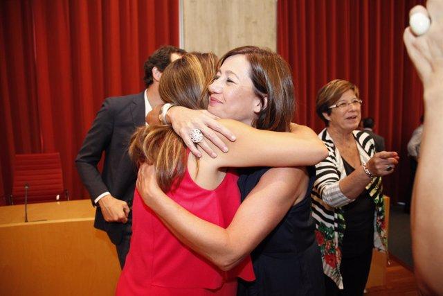Armengol da la enhorabuena a Susana Mora, nueva presidenta del Consell de Menorc