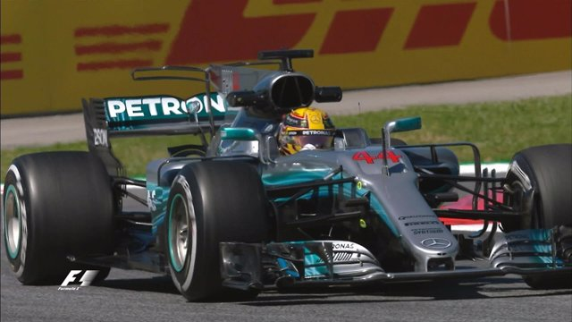 Lewis Hamilton en Montmeló