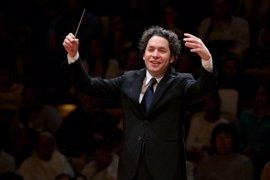 Dudamel y la Orquesta Sinfónica de Galicia traen el 'Himno de la Alegría' a la Paza do Obradoiro