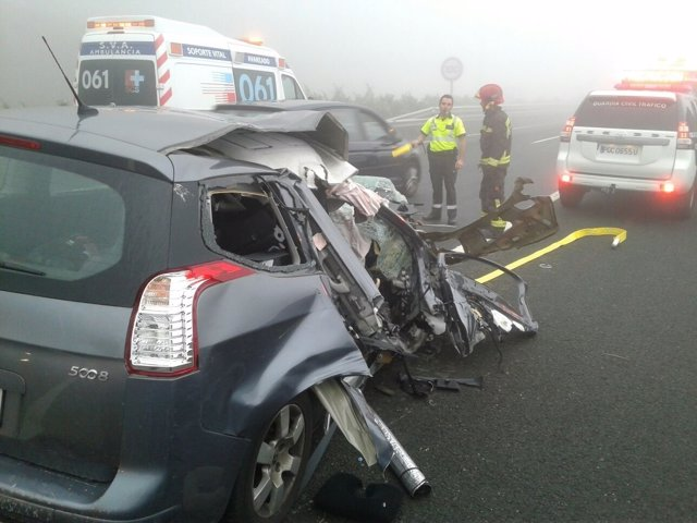 Accidente de tráfico en la A67