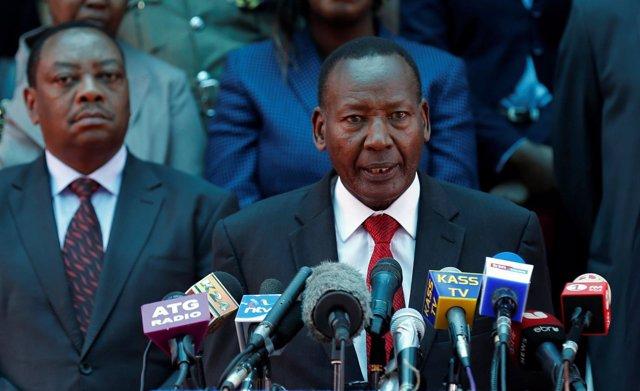El ministro del Interior de Kenia, Joseph Nkaissery.