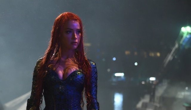 Amber Heard como Mera en el rodaje de Aquaman