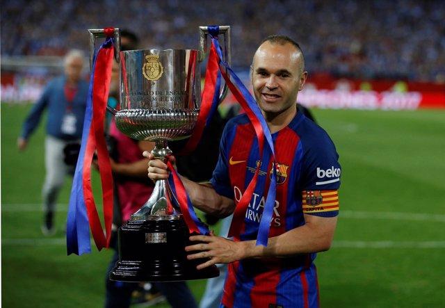 El Capitán Del FC Barcelona Andrés Iniesta