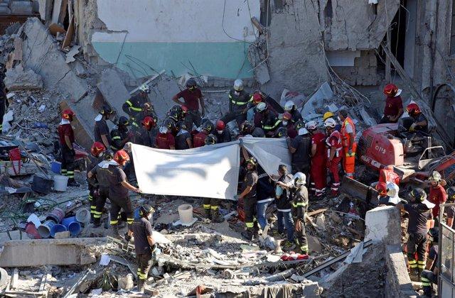 Edificio colapsado en Torre Annunziata (Nápoles)