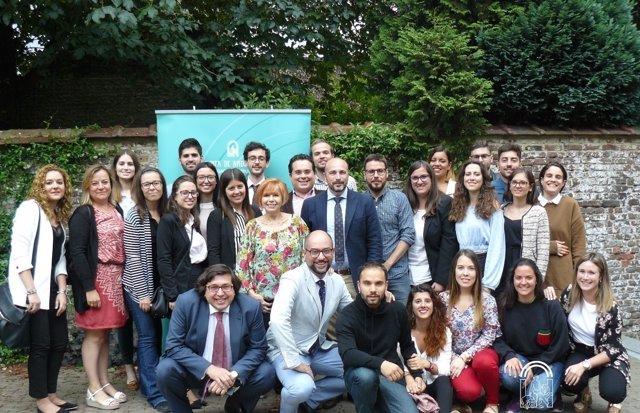 Encuentro en Bruselas con beneficiarios del programa Talentium Jaén