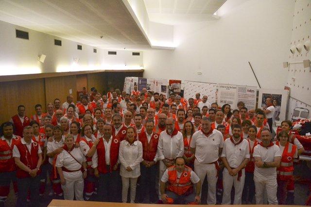 Presidente De Cruz Roja Española Visita El Dispositivo De Sf17 Cruz Roja Navarra