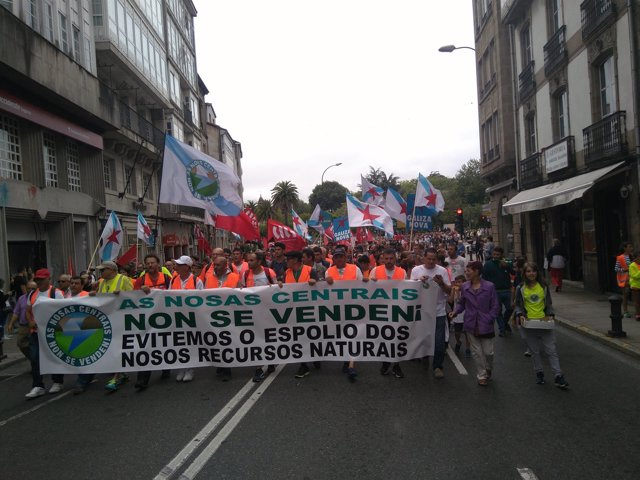 Ferroatlántica manifestación Santiago