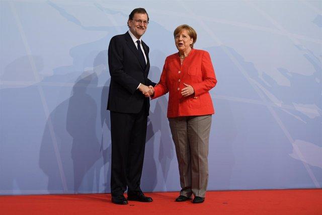 Angela Merkel meets Mariano Rajoy