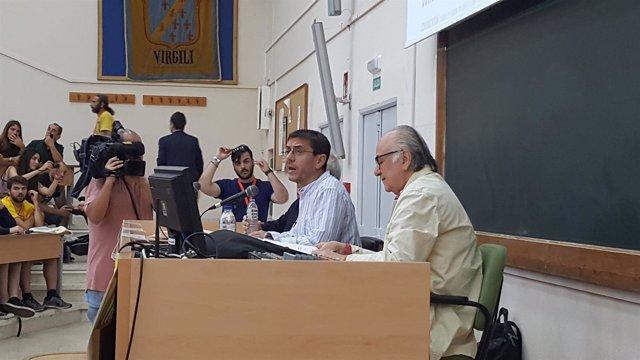 Monedero en la Universidad de verano de Podemos