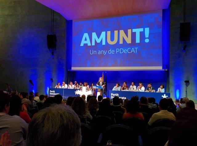 Marta Pascal en el Consell Nacional del PDeCAT