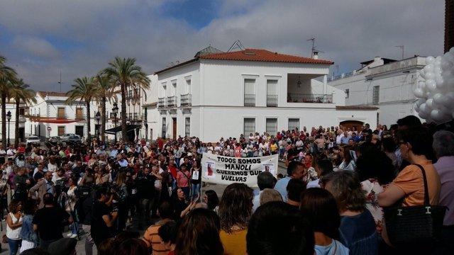 Concentración en Monesterio por la desaparición de Manuela Chavero