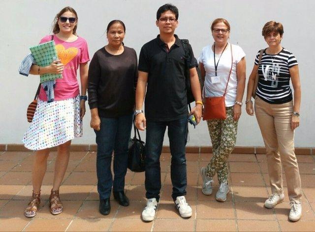 Delegación de Tailandia que visita el Valle del Jerte