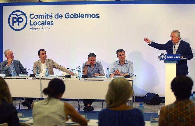 Comité de Gobiernos locales del PP en Málaga
