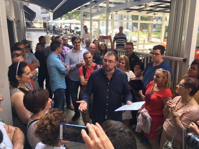 Adrián Barbón registra su precandidtura en la FSA-PSOE