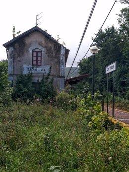 Estación de cercanías de San Roque, en Llanes