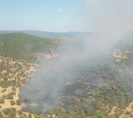 Declarados dos incendios forestales en parajes de Aroche y Bonares (Huelva)