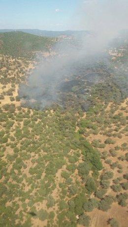 Incendio en Aroche (Huelva)