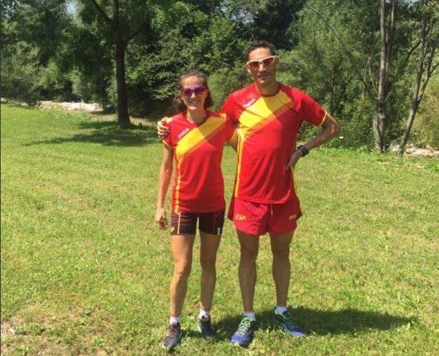 Enrique Meneses y Raquel Gómez en el Europeo de carreras de montaña