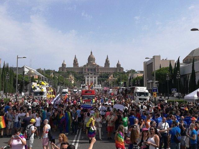 Manifestación del Orgullo 2017 en Barcelona