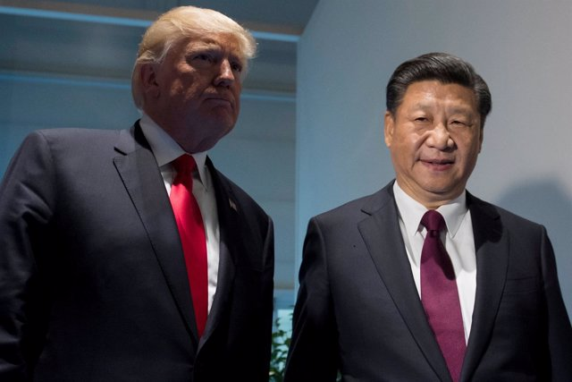 El presidente chino, Xi Jinping, y el estadounidense, Donald Trump