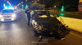 Detenido un conductor en Sevilla tras tener un accidente en estado ebrio y con el permiso retirado